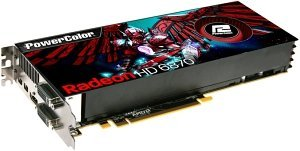 PowerColor Radeon HD 6870, 1GB GDDR5, 2x DVI, HDMI, 2x Mini DisplayPort (AX6870 1GBD5-M2DH/A97F-TI5)