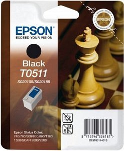 Epson T0511 Tinte schwarz (C13T05114010)