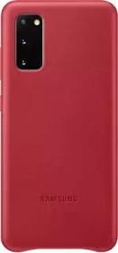 Samsung Leather Cover für Galaxy S20 rot (EF-VG980LREGEU)