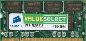 Corsair ValueSelect SO-DIMM 256MB, DDR-333, CL2.5 (VS256SDS333)