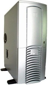 Chieftec Dragon AX-01SLD Midi-Tower with door, aluminum, silver (various Power Supplies)