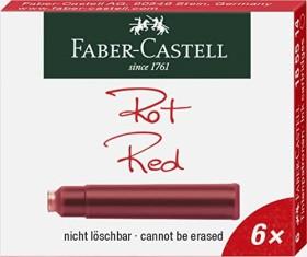 Faber-Castell Tintenpatrone Standard ST21 rot, 6er-Pack (185514)