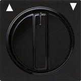 Gira Abdeckung mit Knebel für Jalousieschalter, schwarz (0666 47)