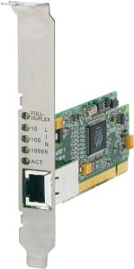 Allied Telesis AT-2916T, 1x 1000Base-T, 64-bit PCI, low profile