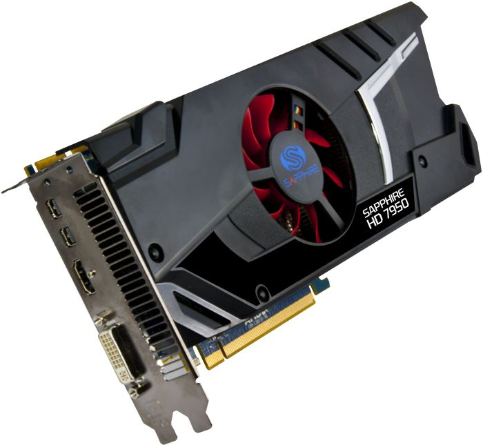 Sapphire Radeon HD 7950 Single Fan, 3GB GDDR5, DVI, HDMI, 2x mini DisplayPort, full retail (11196-00-40G)