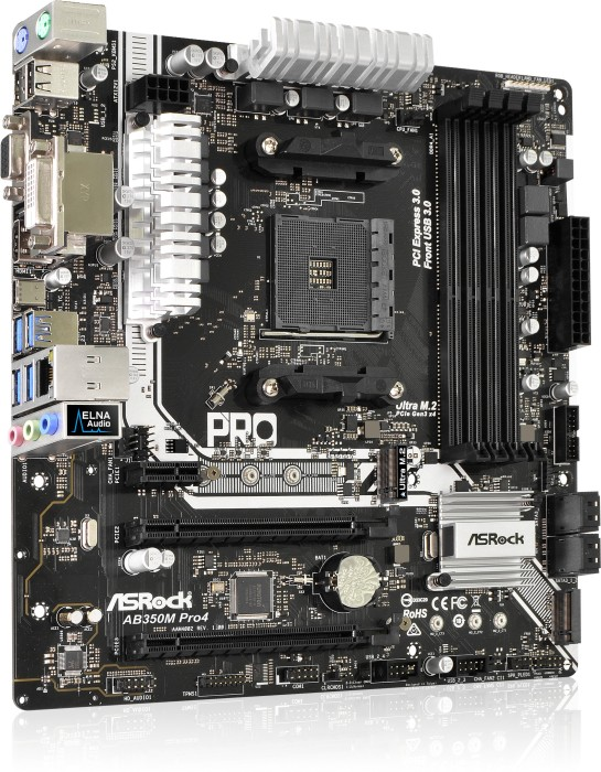 ASRock AB350M Pro4 (90-MXB520-A0UAYZ)