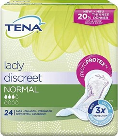 Tena Lady Discreet normal incontinence pads, 24 pieces