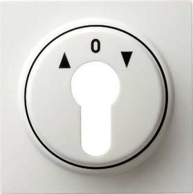 Gira Abdeckung für Schlüsselschalter und Schlüsseltaster, reinweiß (0664 40)