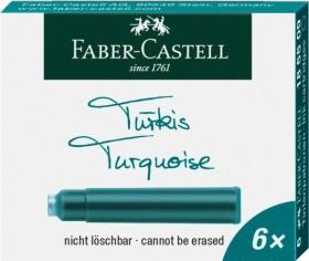 Faber-Castell Tintenpatrone Standard ST53 türkis, 6er-Pack (185509)