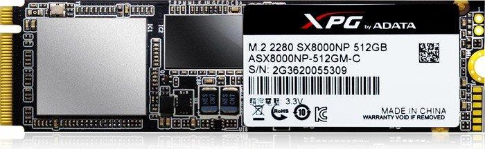 ADATA XPG SX8000 512GB, M.2 (ASX8000NP-512GM-C)