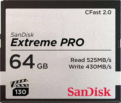 SanDisk Extreme PRO R525/W430 CFast 2.0 CompactFlash Card [CFAST2.0] 64GB (SDCFSP-064G-G46D)