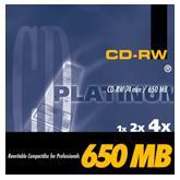 BestMedia Platinum CD-RW 74min/650MB