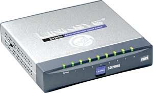 Linksys SD2008, 8-port