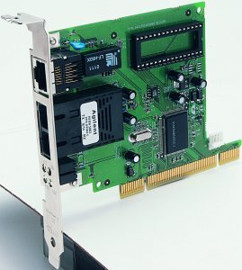 SMC EZ Card 10/100 1255FTX-SC, 100TX and 100FX (RJ-45/SC), 32bit PCI
