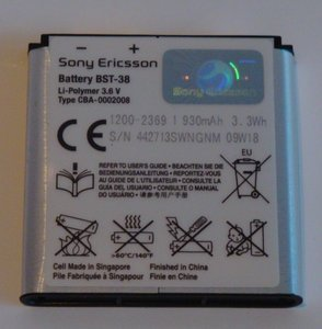 Sony Ericsson BST-38 rechargeable battery -- http://bepixelung.org/10617