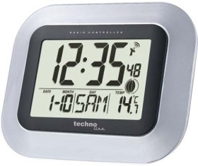Techno line WS8005 Funkwanduhr Digital mit Thermometer