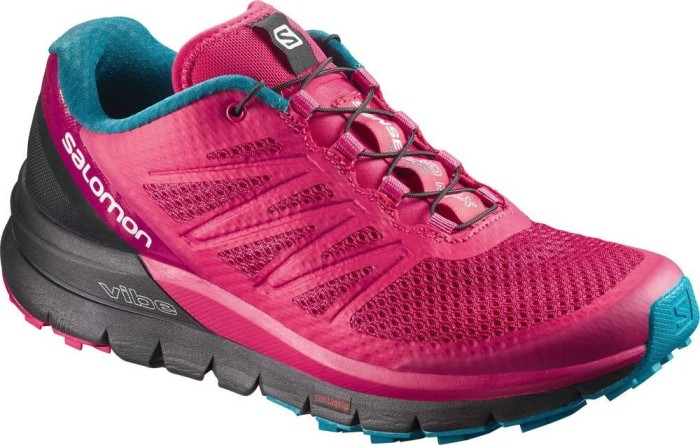 Salomon Damen Sense Pro Max W Traillaufschuhe, Pink (Virtual Pink/Black/Enamel Blue 000), 36 EU