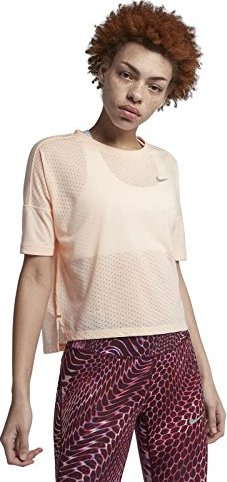 15f82d5491 Nike Tailwind running shirt short-sleeve crimson tint/heather ...