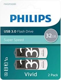 Philips Vivid grey 32GB, USB-A 3.0, 2-pack (FM32FD00D/10)