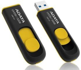 ADATA DashDrive UV128 gelb 64GB, USB-A 3.0 (AUV128-64G-RBY)