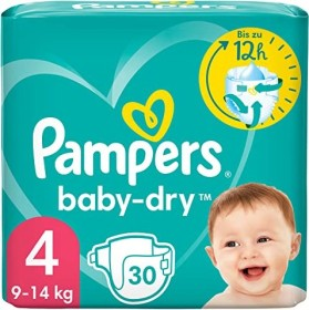 Pampers Baby-Dry Gr.4 Einwegwindel, 7-18kg, 30 Stück