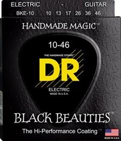 DR Strings Black Beauties Electric Medium (BKE-10)