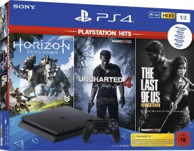 Sony PlayStation 4 Slim - 1TB PlayStation Hits Bundle schwarz (9932703)