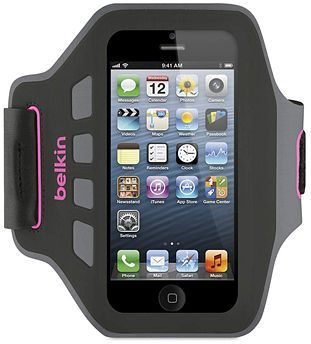 Belkin Ease-FIT Sports Armband für Apple iPhone 5 rosa (F8W105vfC06)