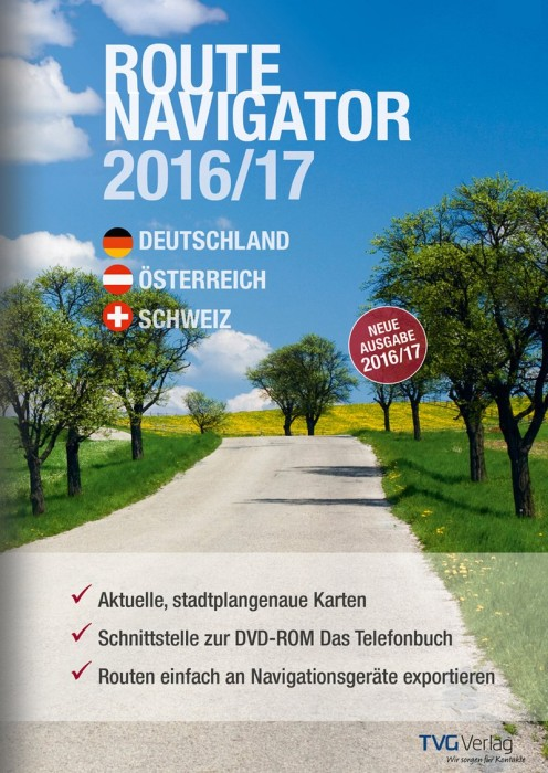 TVG: RouteNavigator DACH 2016/2017, ESD (deutsch) (PC) -- via Amazon Partnerprogramm