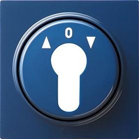 Gira Abdeckung für Schlüsselschalter und Schlüsseltaster, blau (0664 46)