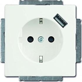 Busch-Jaeger Future Linear USB-Steckdose mit erhöhtem Berührungsschutz, studioweiß matt (20 EUCBUSB-884)