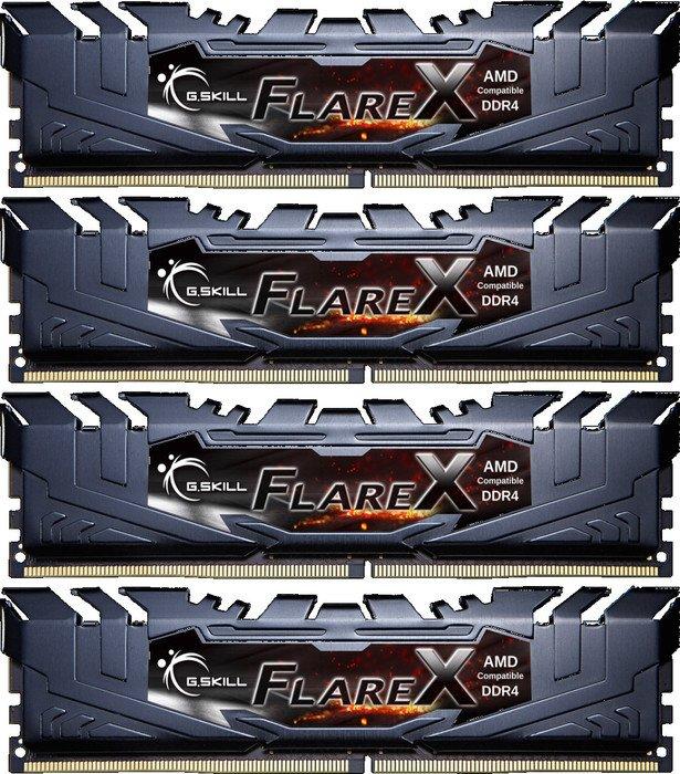 G.Skill Flare X schwarz DIMM Kit 64GB, DDR4-2933, CL16-16-16-36 (F4-2933C16Q-64GFX)