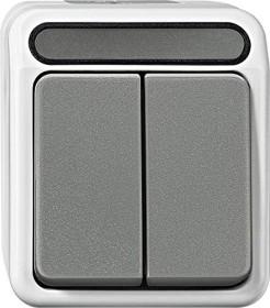 Merten Aquastar Serienschalter 1-polig, lichtgrau (MEG3115-8029)