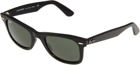 Ray-Ban RB2140 Original Wayfarer Classic 50mm black/green (901-50) -- ©Glasses&Co