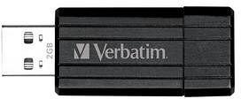 Verbatim Store 'n' Go PinStripe schwarz 2GB, USB-A 2.0 (49060)