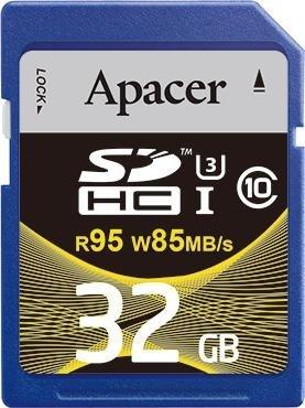Apacer R95/W85 SDHC 32GB, UHS-I U3, Class 10 (AP32GSDHC10U4-R)