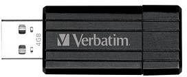 Verbatim Store 'n' Go PinStripe schwarz 4GB, USB-A 2.0 (49061)