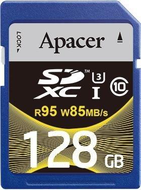 Apacer R95/W85 SDXC 128GB, UHS-I U3/Class 10 (AP128GSDXC10U4-R)