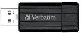Verbatim Store 'n' Go PinStripe schwarz 8GB, USB-A 2.0 (49062)