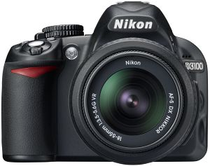 Nikon D3100 black with lens AF-S VR DX 18-55mm 3.5-5.6G (VBA280K001)