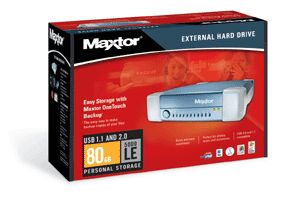 Maxtor External Storage 5000LE 80GB, USB2.0 (R14J080)