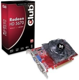 Club 3D Radeon HD 5670, 1GB DDR3, VGA, DVI, HDMI (CGAX-56724ZI)