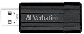 Verbatim Store 'n' Go PinStripe schwarz 16GB, USB-A 2.0 (49063)