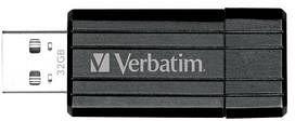 Verbatim Store 'n' Go PinStripe schwarz 32GB, USB-A 2.0 (49064)