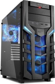 Sharkoon DG7000-G blau, Glasfenster