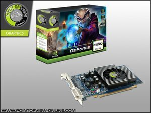 Point of View GeForce GT 220, 1GB DDR2, VGA, DVI, HDMI (R-VGA150929-D2)
