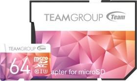 TeamGroup Color Card II purple/orange R90/W45 microSDXC 64GB Kit, UHS-I U3, Class 10 (TCIIUSXH64GU351)