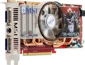 MSI R4850-T2D512 Dual Slot, Radeon HD 4850,  512MB DDR3, 2x DVI, TV-out (V151-020R)