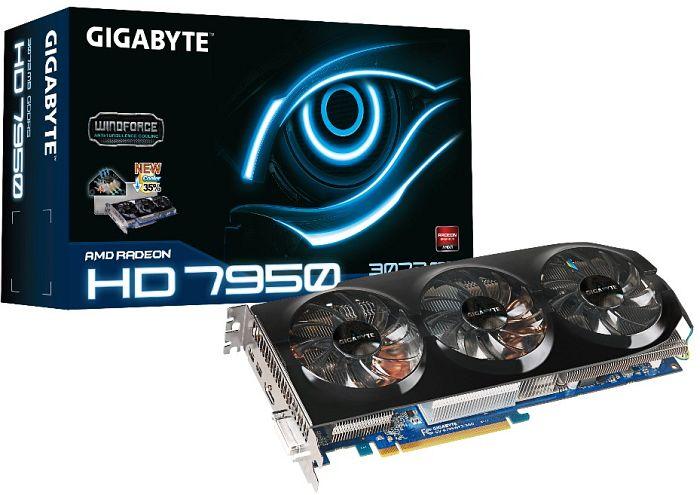 Gigabyte Radeon HD 7950 Boost, 3GB GDDR5, DVI, HDMI, 2x mini DisplayPort (GV-R795WF3-3GD)