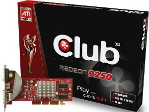 Club 3D Radeon 9200SE/9250SE, 128MB DDR, VGA, DVI, TV-out, AGP (CGA-S928TVD/9258ATVD)